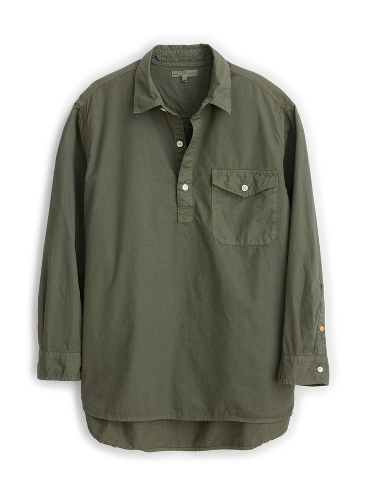 Popover Shirt- Dusty Olive