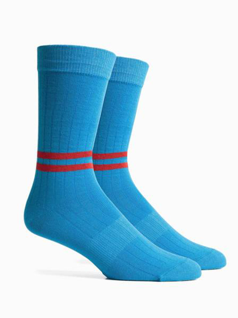 Bixby Socks- Blue/Red