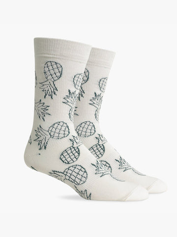 Luau Socks- White/Green