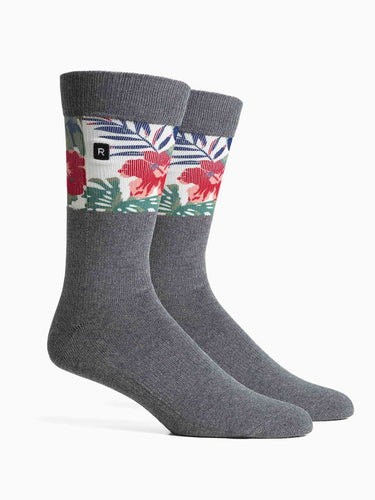 Mahalo Socks- Charcoal/Red
