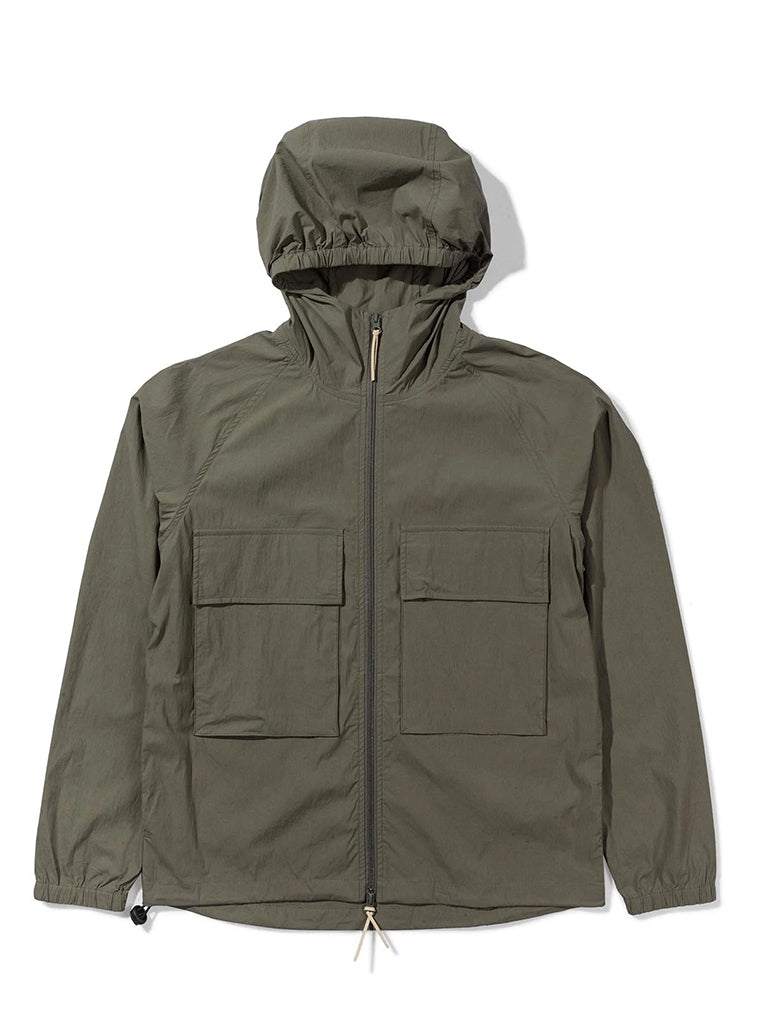 Hooded Paper Jacket- Green
