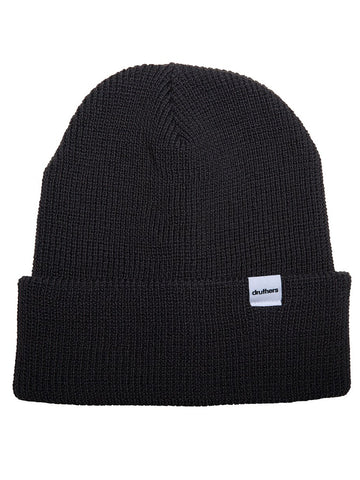 Cardigan Knit Beanie- Washed Black