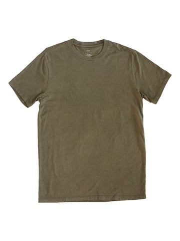 Supima Crew Tee- Heather Olive