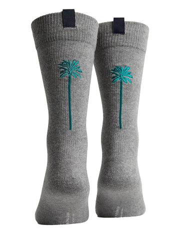 Coaster Socks- Heather Grey