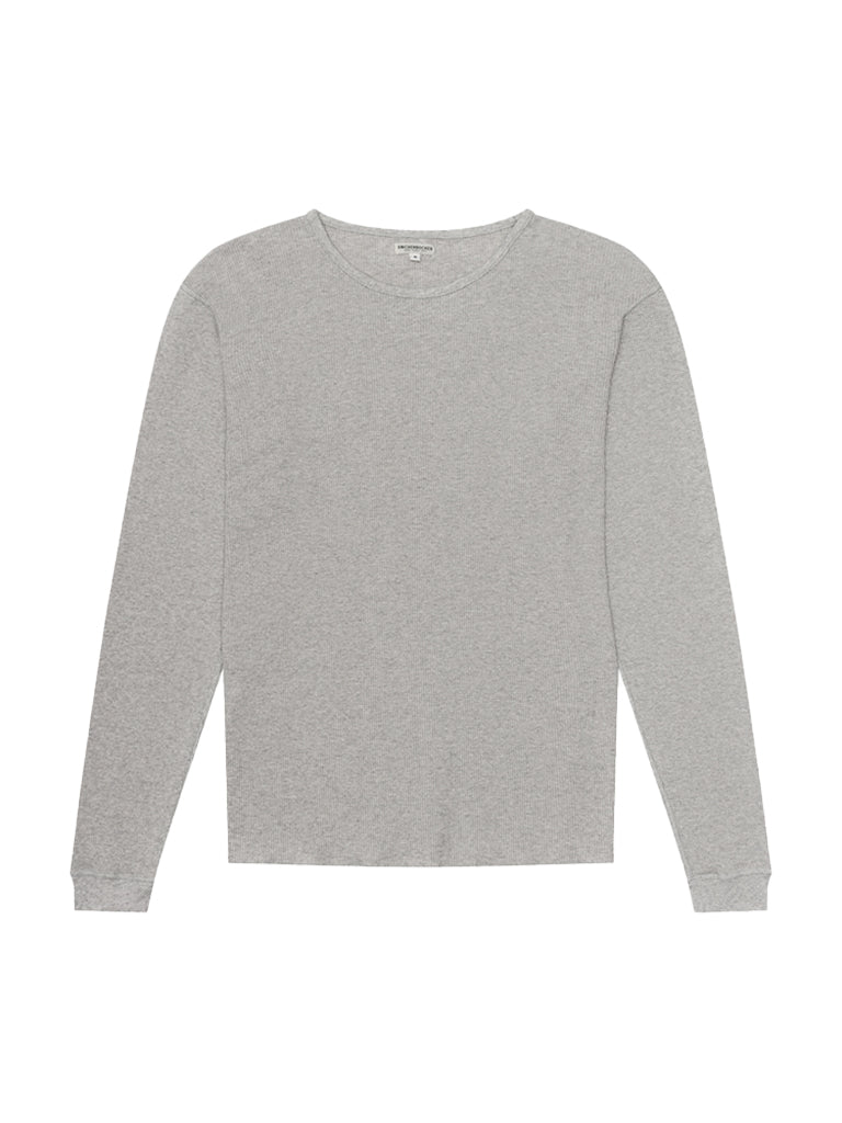 Camp Knit Long Sleeve- Heather Grey
