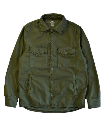 Fleece Lined Shirt Jacket- Olive
