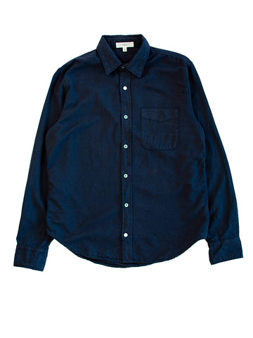 Oatmeal Flannel Shirt- Navy