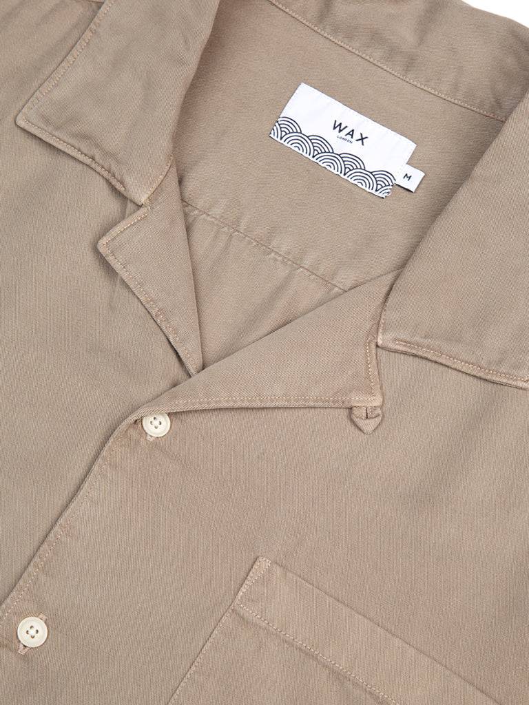 Fazely Short Sleeve Shirt- Sand