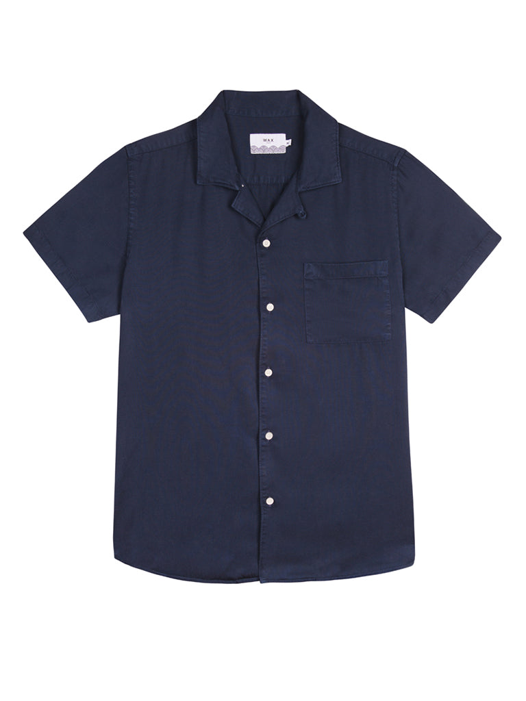 Fazely Short Sleeve Shirt- Navy
