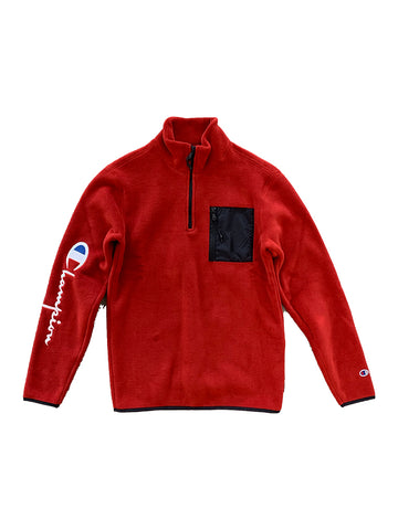 Polartec Half Zip Top- Scarlet