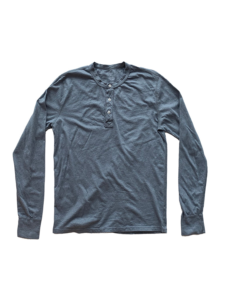 Supima Jersey Henley- Heather Storm