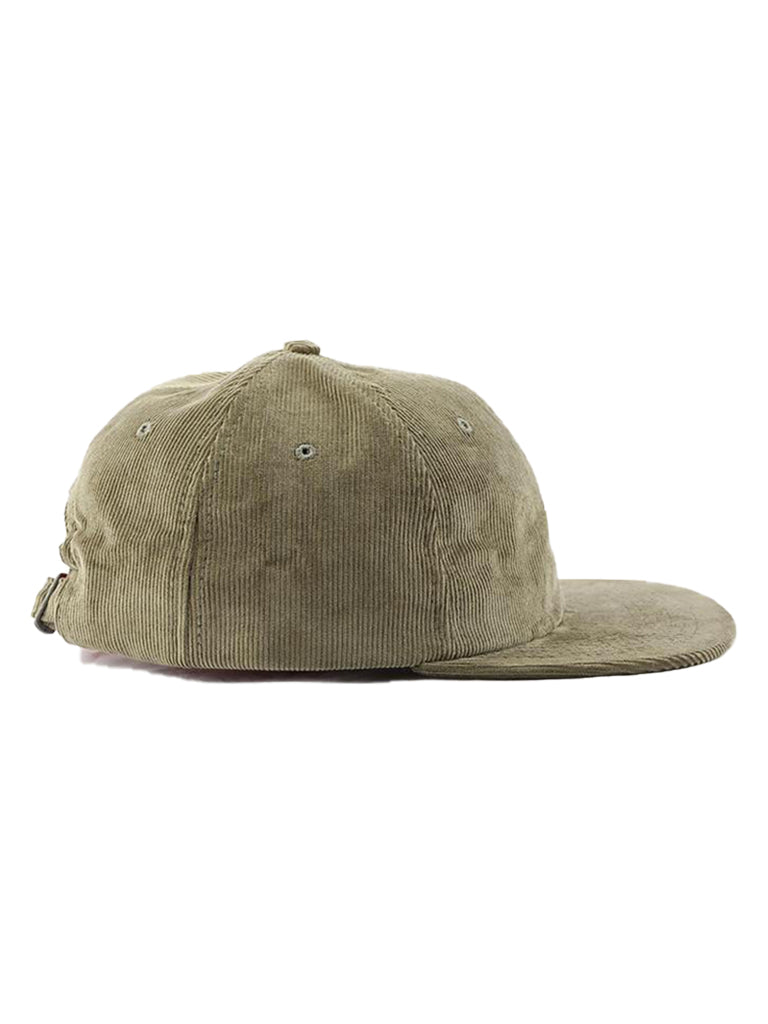 6 Panel Hat- Corduroy Moss