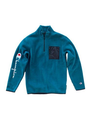 Polartec Half Zip Top- Jade