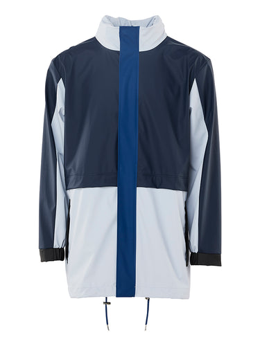 Color Block Track Suit- Ice Grey/Blue