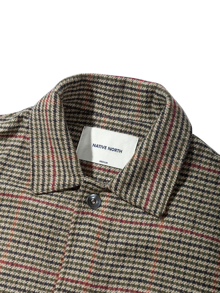 Tweed Utility Jacket- Beige