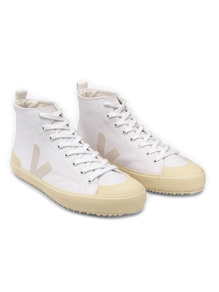 Nova Canvas High- White/Butter Sole
