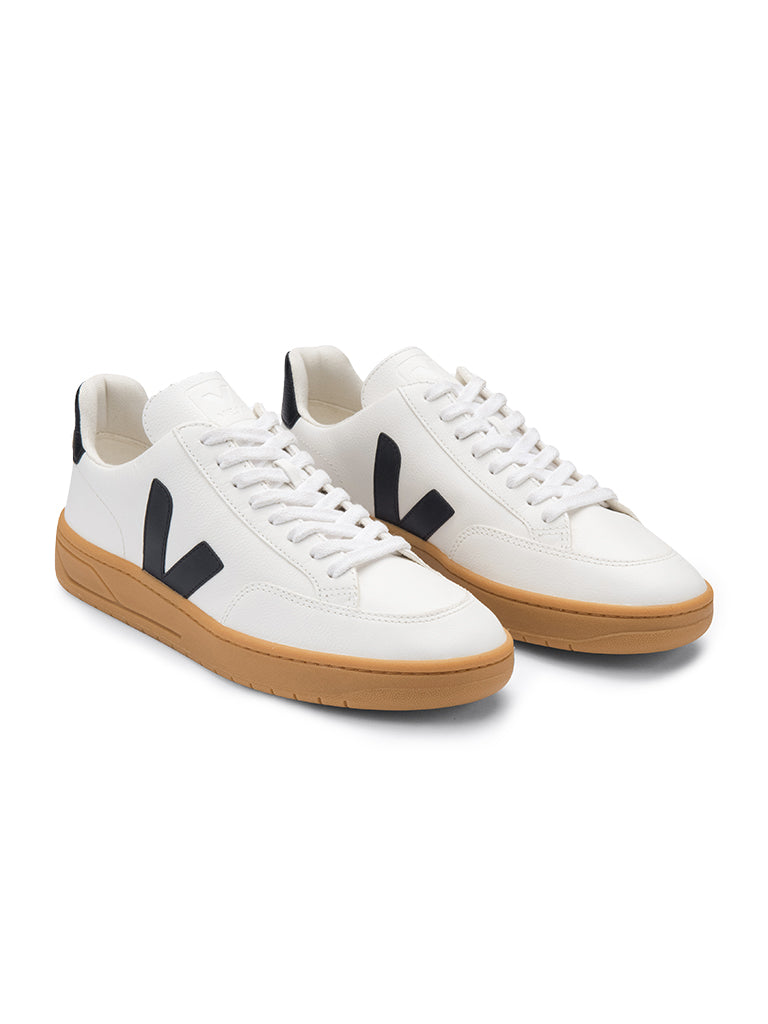 V-12 Leather- White/Black/Gum