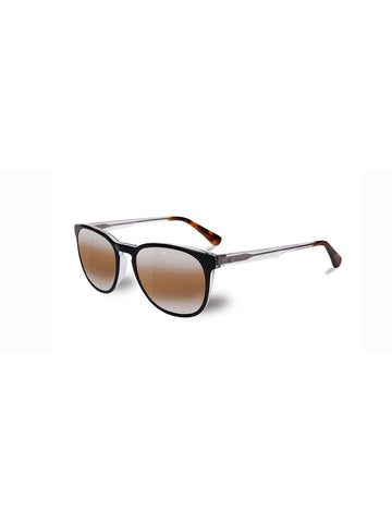 Round Medium District- Black, Clear & Tortoise Frame/ Brown Lynx Lens
