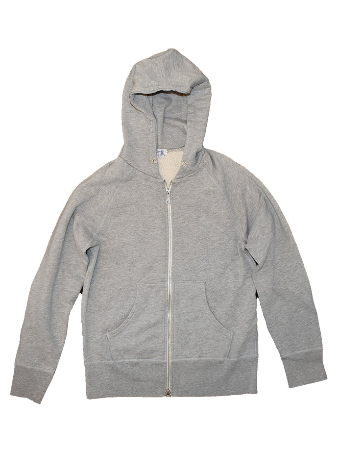 8 oz. Zip Hoodie- Heather Grey