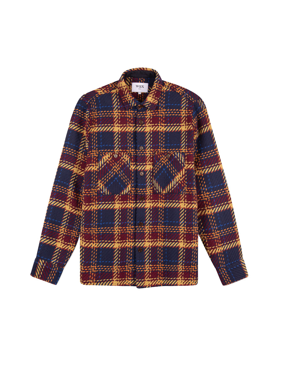 Whiting Shirt- Madras Navy