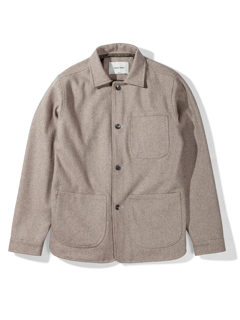 Wool Utility Jacket- Dirt