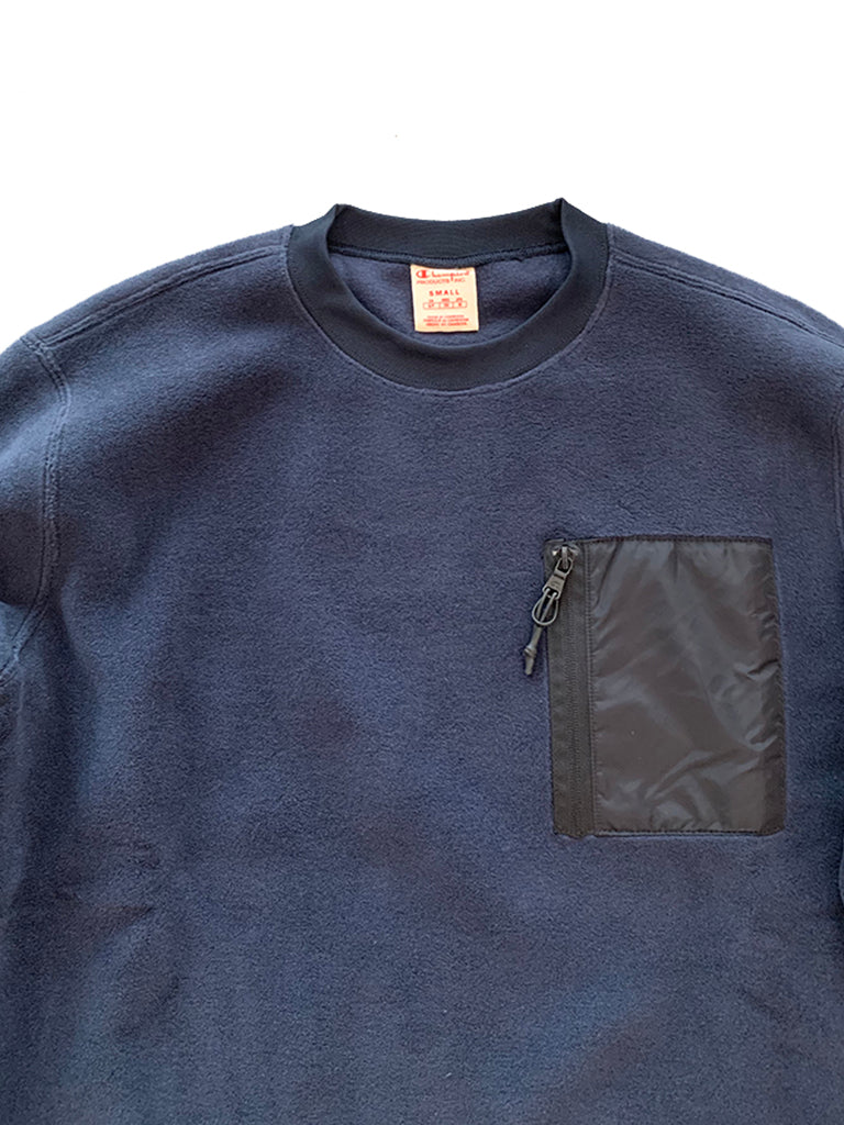 Polartec Crewneck Sweater- Navy