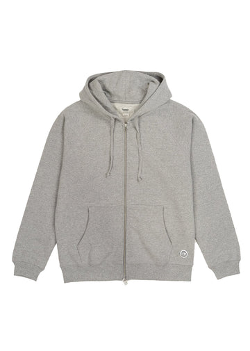 Woodlands Full-Zip Hoodie- Heather Grey