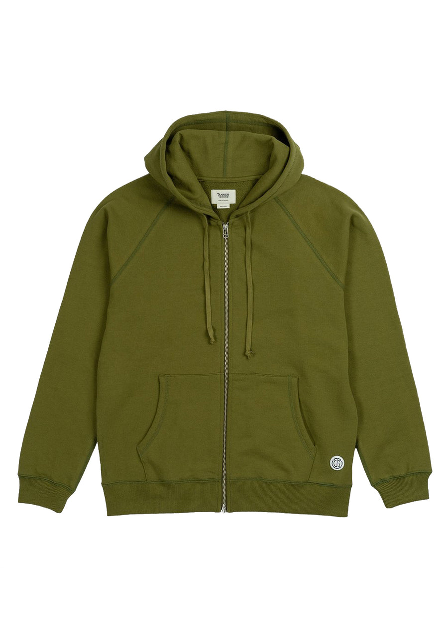 Woodlands Full-Zip Hoodie- Moss
