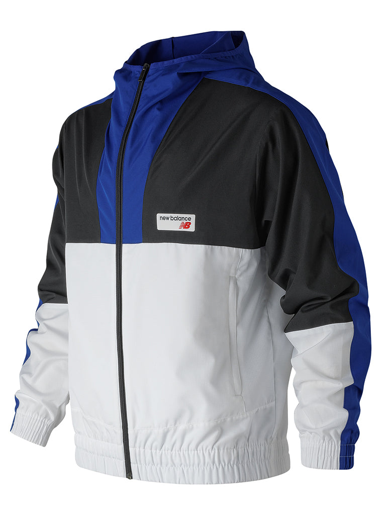 NB Athletics Windbreaker- Team Royal with Black & White