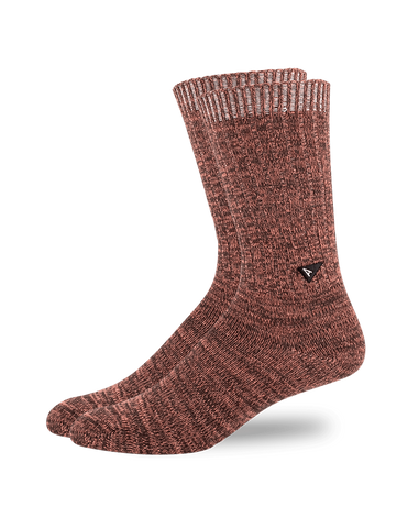 Casual Twisted Sock- Burgundy