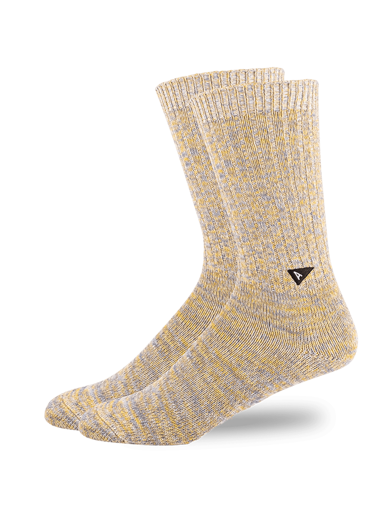 Casual Twisted Sock- Yellow Mix