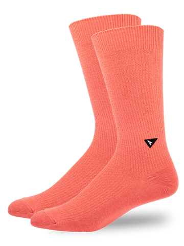 Casual Waffle Sock- Coral