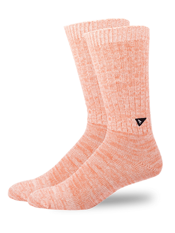 Casual Twisted Sock- Coral