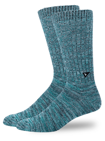 Casual Twisted Sock- Teal