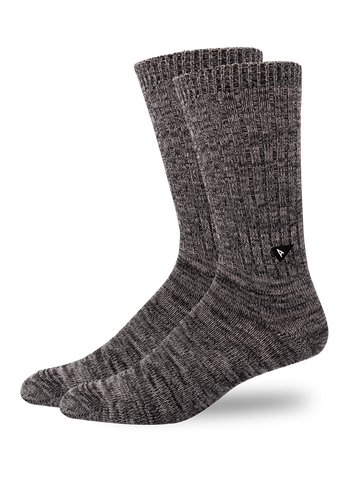 Casual Twisted Sock- Black/Grey