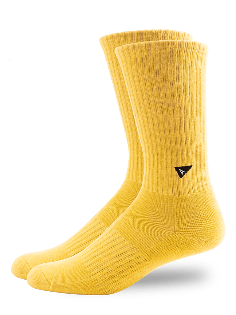 Plant Dyed Crew Sock- Yellow
