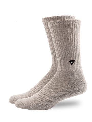 Plant Dyed Crew Sock- Grey