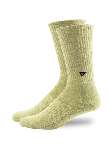 Plant Dyed Crew Sock- Green