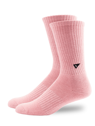 Plant Dyed Crew Sock- Pink