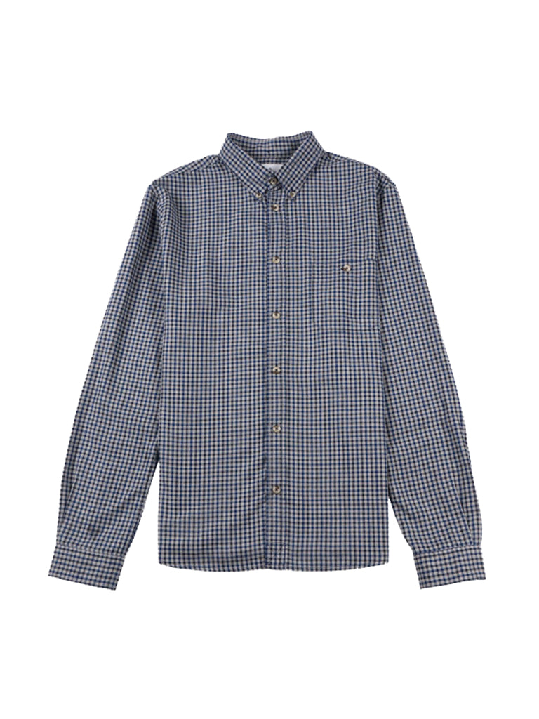 Karl Shirt- Navy/Grey Mini Check