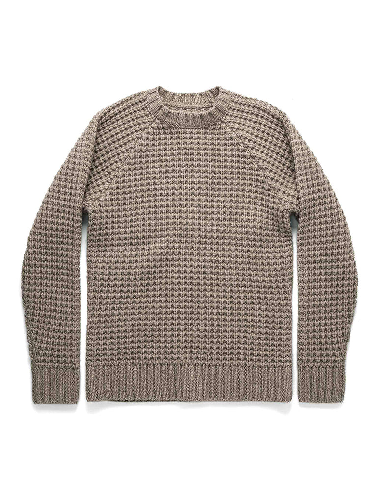 The Fisherman Sweater- Natural Waffle