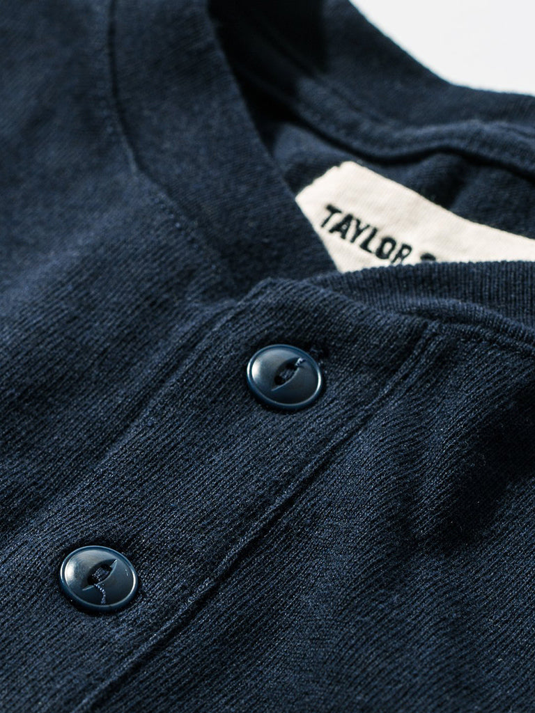 Heavy Bag Henley- Navy
