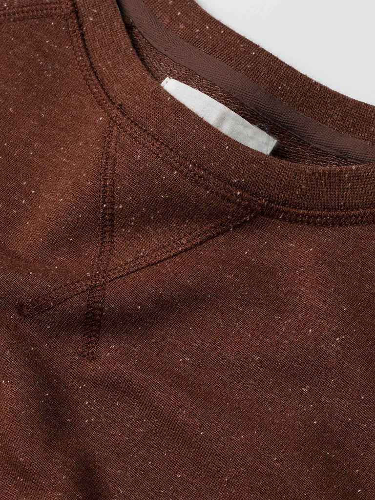 The French Terry Crewneck- Rust