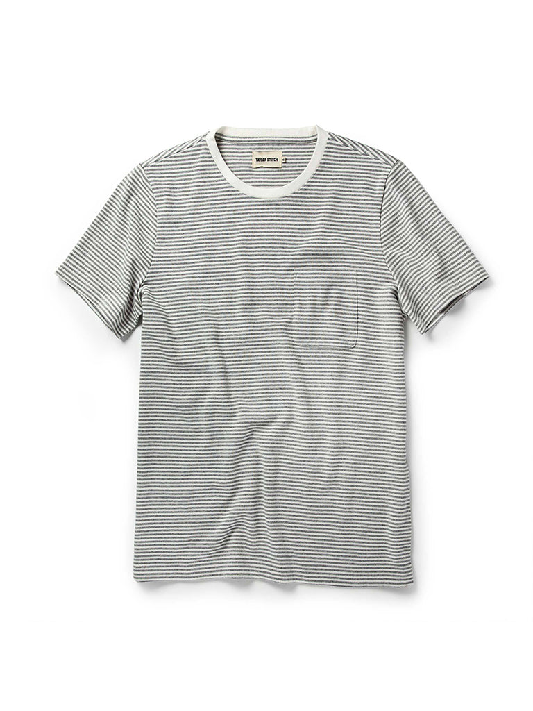 Heavy Bag Tee- Ash Stripe