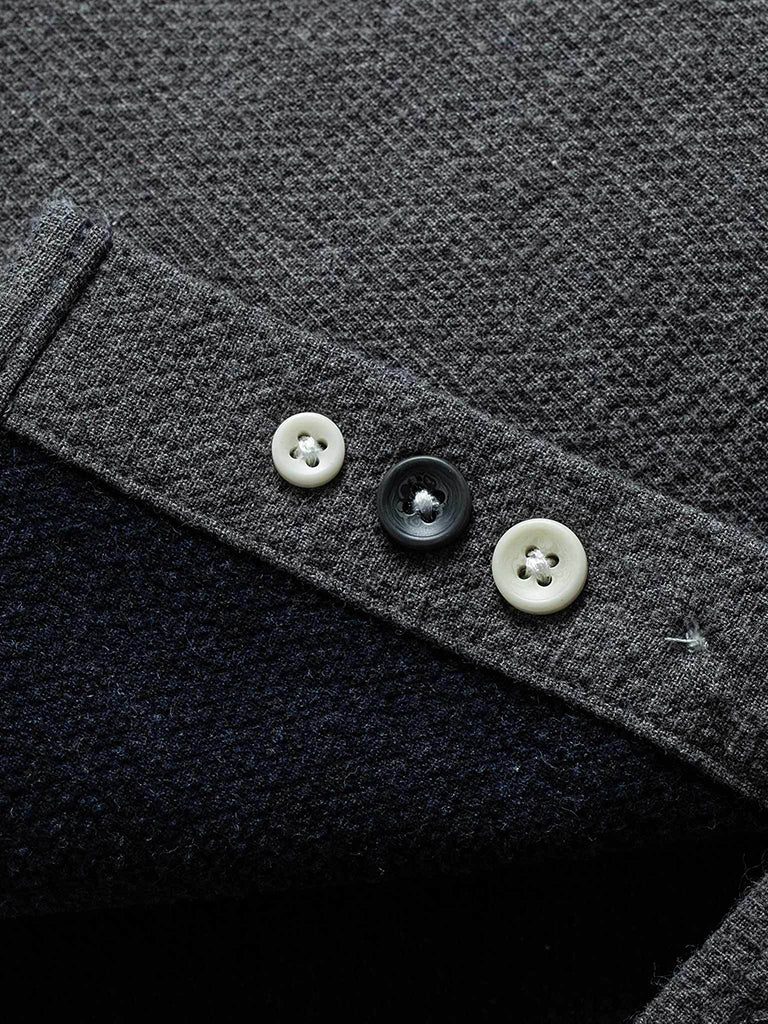 The Jack Shirt- Charcoal Double Cloth