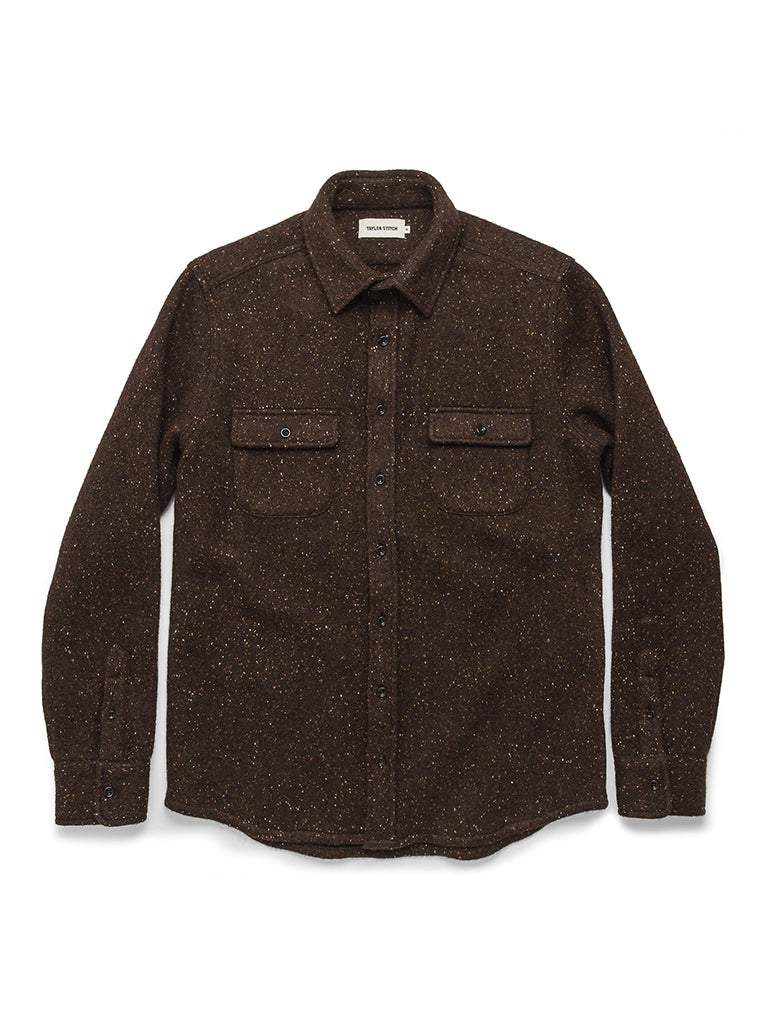 The Leeward Shirt- Chocolate Donegal