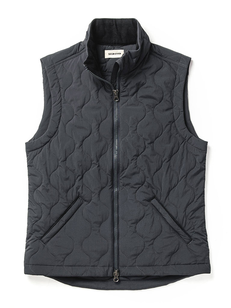 The Vertical Vest- Charcoal
