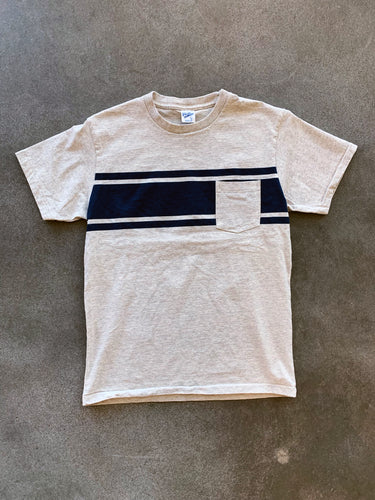 College Stripe Tee- Oatmeal