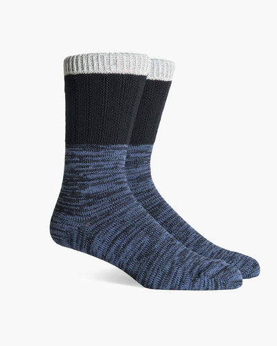 Fremont Made In Japan Crew Socks- Black/Navy