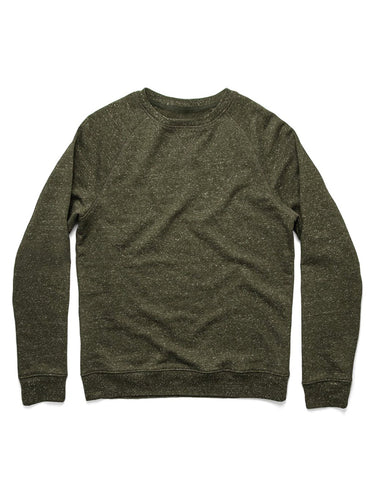 The French Terry Crewneck- Heather Olive